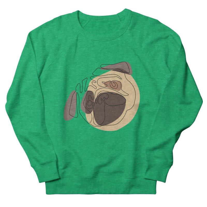 Modern One line Abstract Pug Women's Sweatshirt by huebucket's Artist Shop