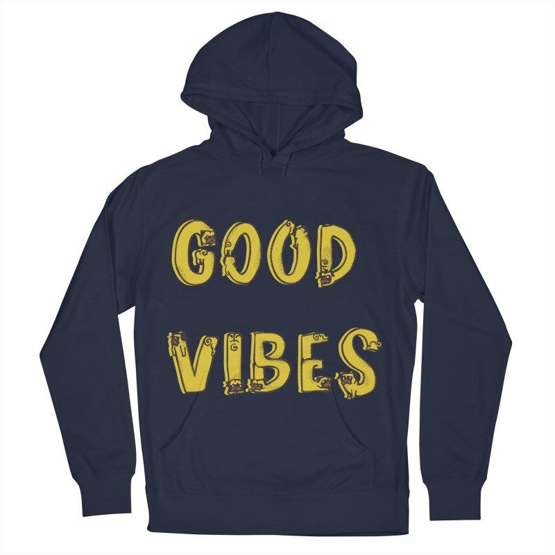 Good Vibes Pugs Women's Pullover Hoody by huebucket's Artist Shop