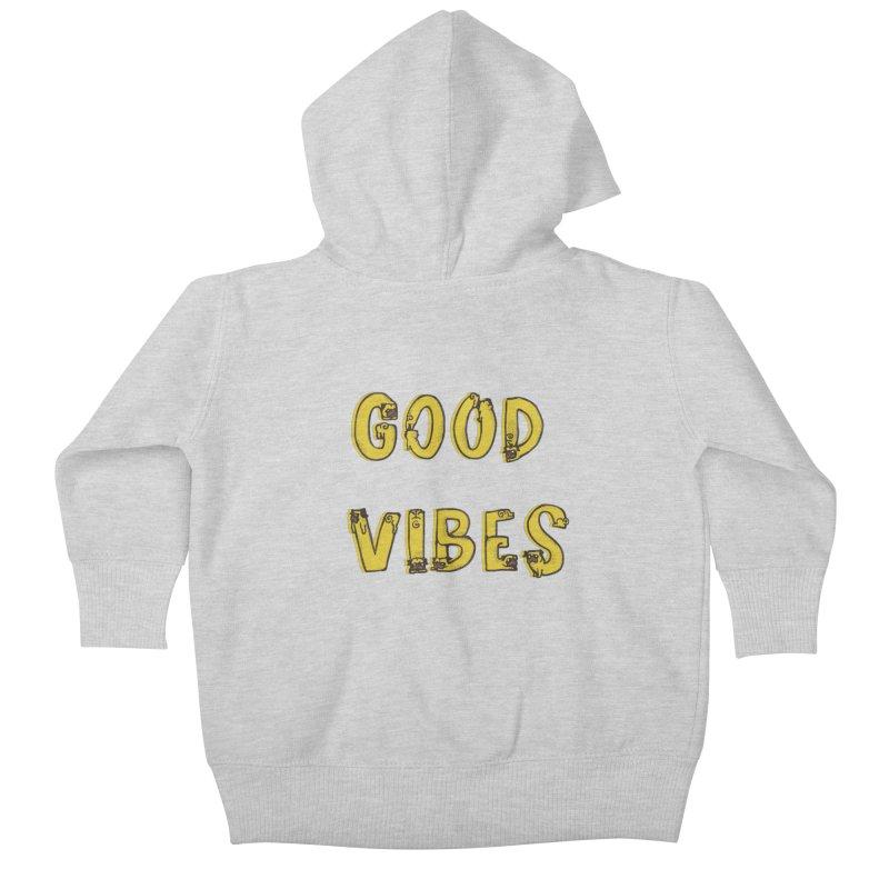 Good Vibes Pugs Kids Baby Zip-Up Hoody by huebucket's Artist Shop