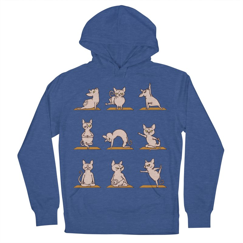 Sphynx Cat Yoga Men's Pullover Hoody by huebucket's Artist Shop