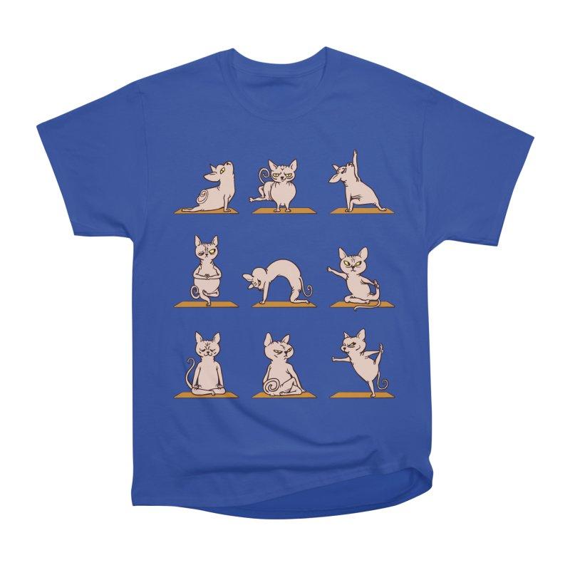 Sphynx Cat Yoga Men's Classic T-Shirt by huebucket's Artist Shop