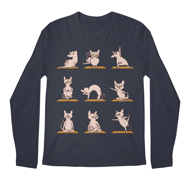 Sphynx Cat Yoga Men's Longsleeve T-Shirt by huebucket's Artist Shop