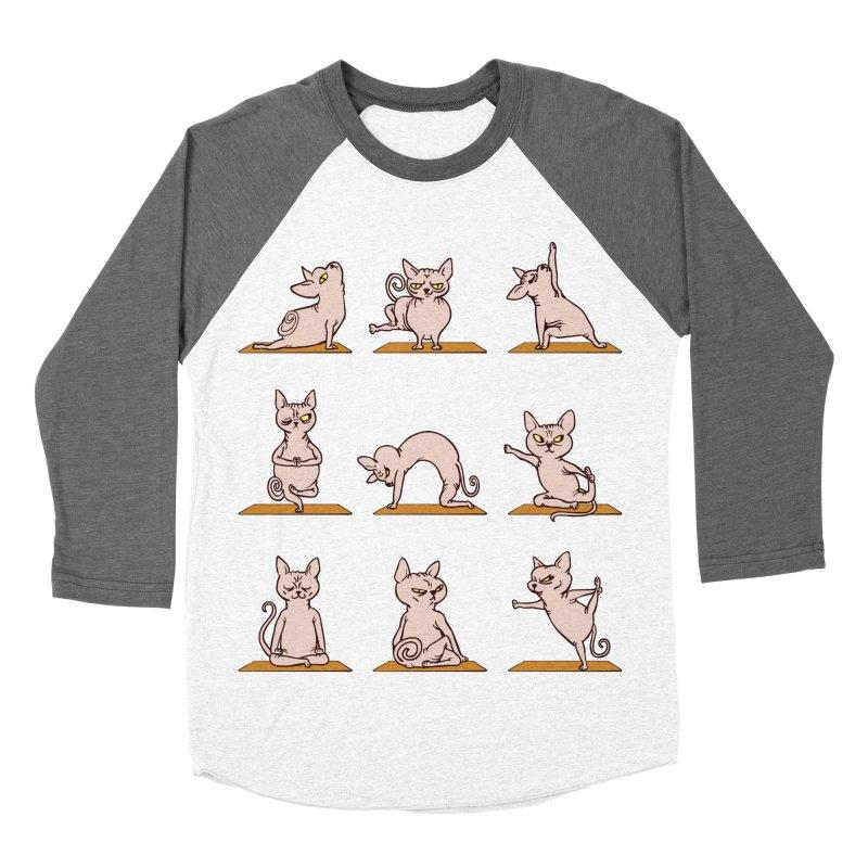Sphynx Cat Yoga Men's Baseball Triblend T-Shirt by huebucket's Artist Shop
