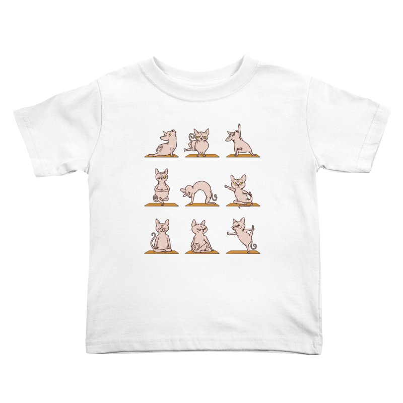 Sphynx Cat Yoga Kids Toddler T-Shirt by huebucket's Artist Shop