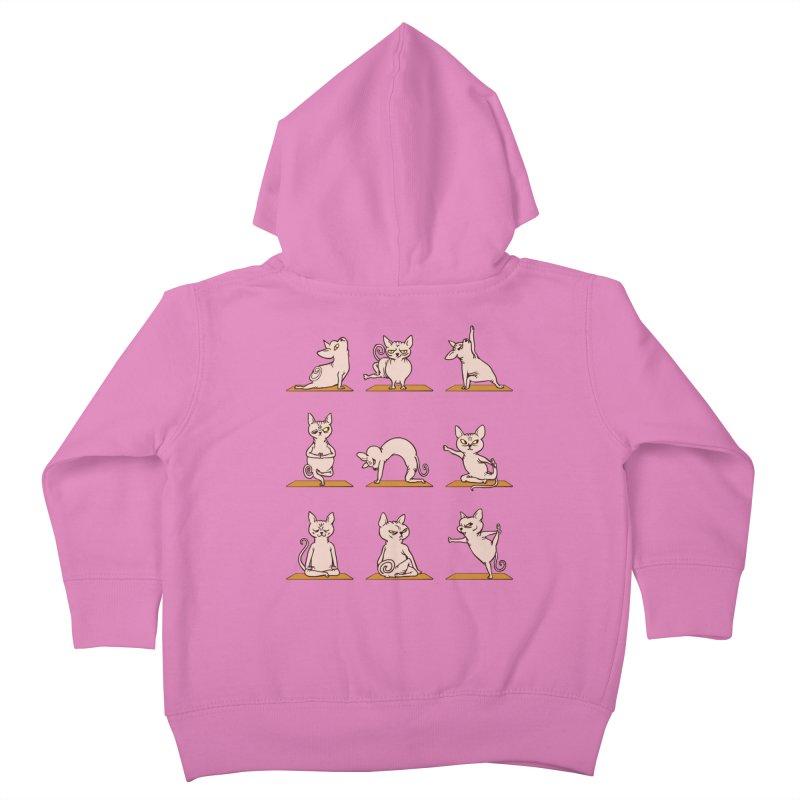 Sphynx Cat Yoga Kids Toddler Zip-Up Hoody by huebucket's Artist Shop