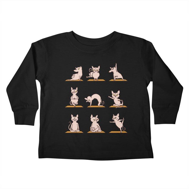 Sphynx Cat Yoga Kids Toddler Longsleeve T-Shirt by huebucket's Artist Shop