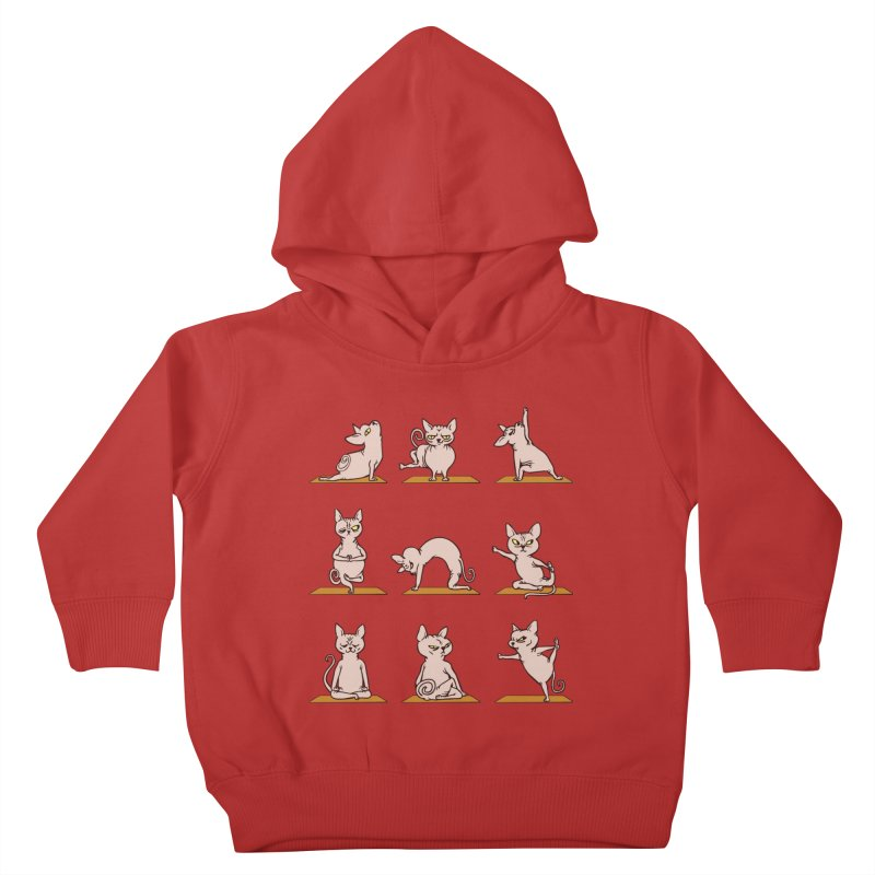 Sphynx Cat Yoga Kids Toddler Pullover Hoody by huebucket's Artist Shop