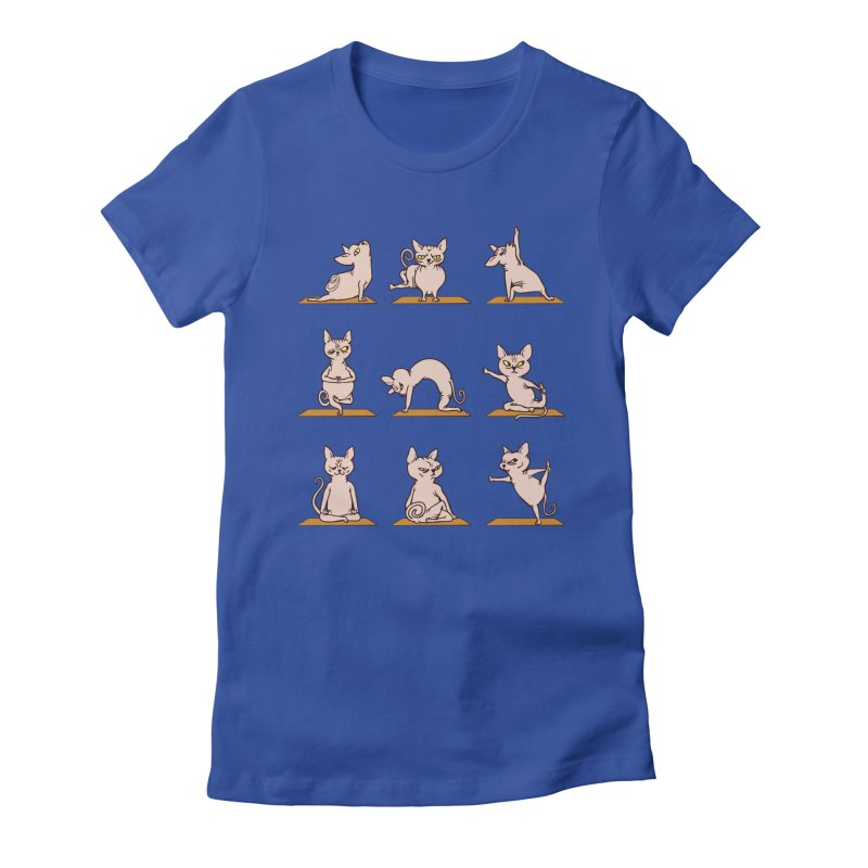 Sphynx Cat Yoga Women's Fitted T-Shirt by huebucket's Artist Shop