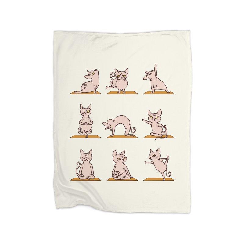 Sphynx Cat Yoga Home Blanket by huebucket's Artist Shop