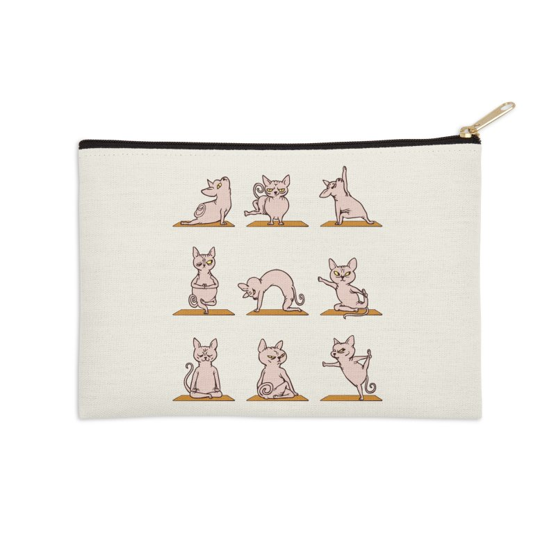 Sphynx Cat Yoga Accessories Zip Pouch by huebucket's Artist Shop