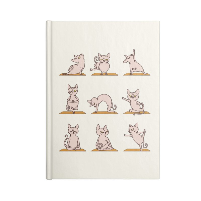 Sphynx Cat Yoga Accessories Notebook by huebucket's Artist Shop
