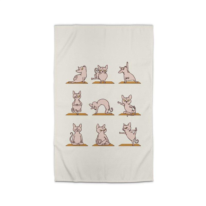 Sphynx Cat Yoga Home Rug by huebucket's Artist Shop