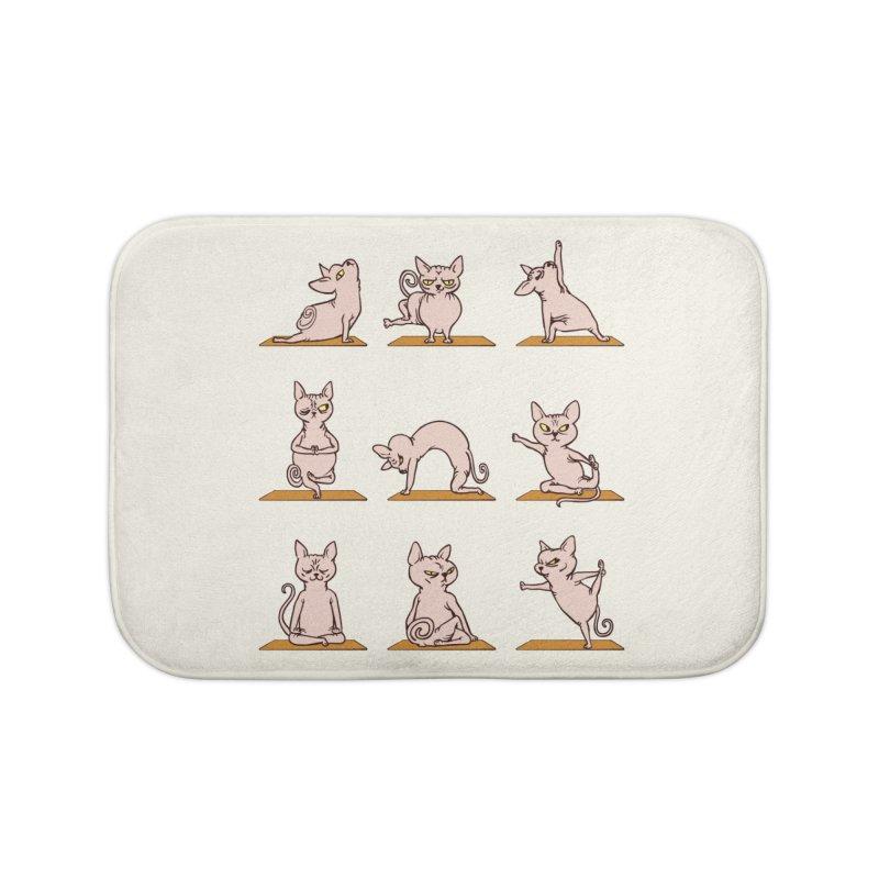 Sphynx Cat Yoga Home Bath Mat by huebucket's Artist Shop