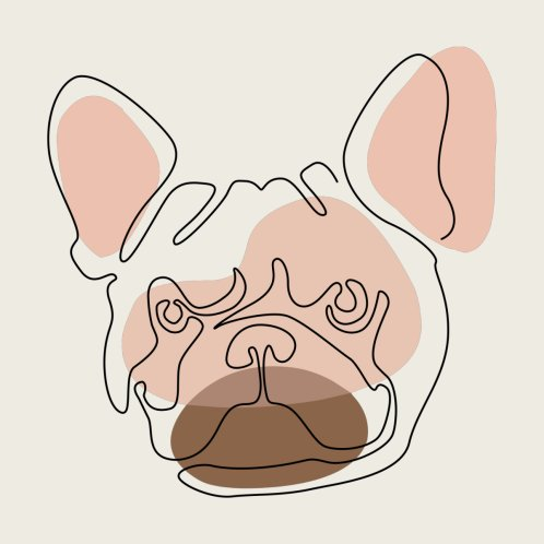 Design for Modern One line Abstract Frenchie