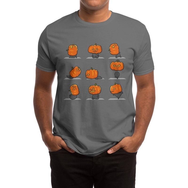 Pumpkin Yoga Halloween Men's T-Shirt by huebucket's Artist Shop