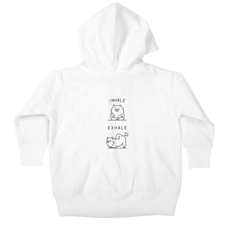 Inhale Exhale Pomeranian Kids Baby Zip-Up Hoody by huebucket's Artist Shop