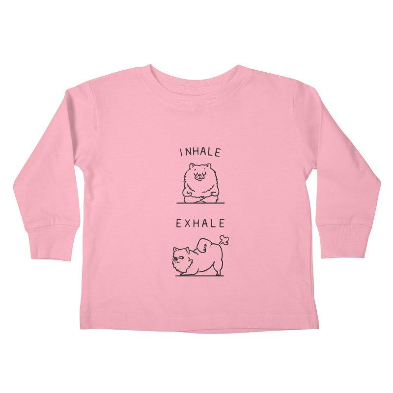 Inhale Exhale Pomeranian Kids Toddler Longsleeve T-Shirt by huebucket's Artist Shop