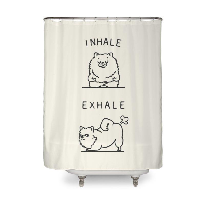 Inhale Exhale Pomeranian Home Shower Curtain by huebucket's Artist Shop