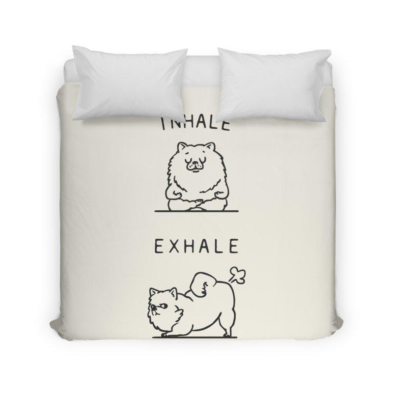 Inhale Exhale Pomeranian Home Duvet by huebucket's Artist Shop