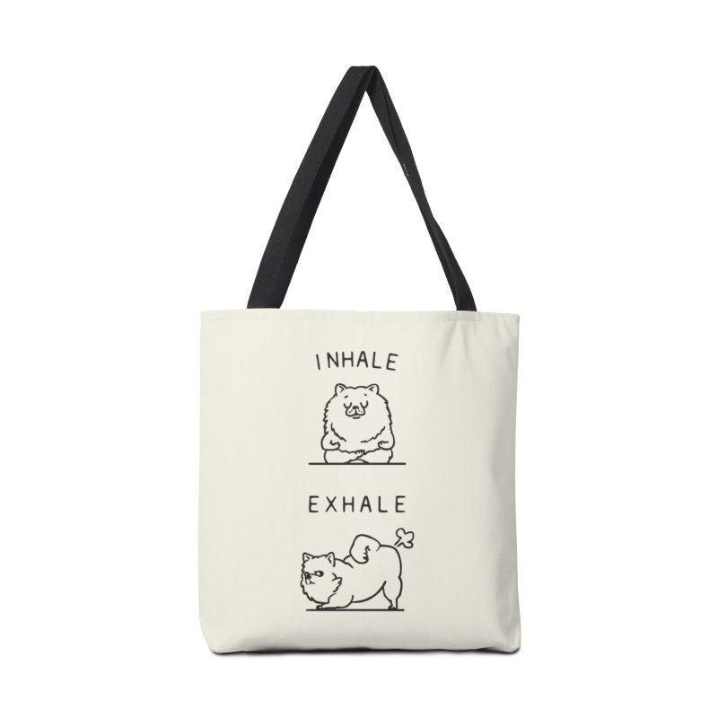 Inhale Exhale Pomeranian Accessories Bag by huebucket's Artist Shop