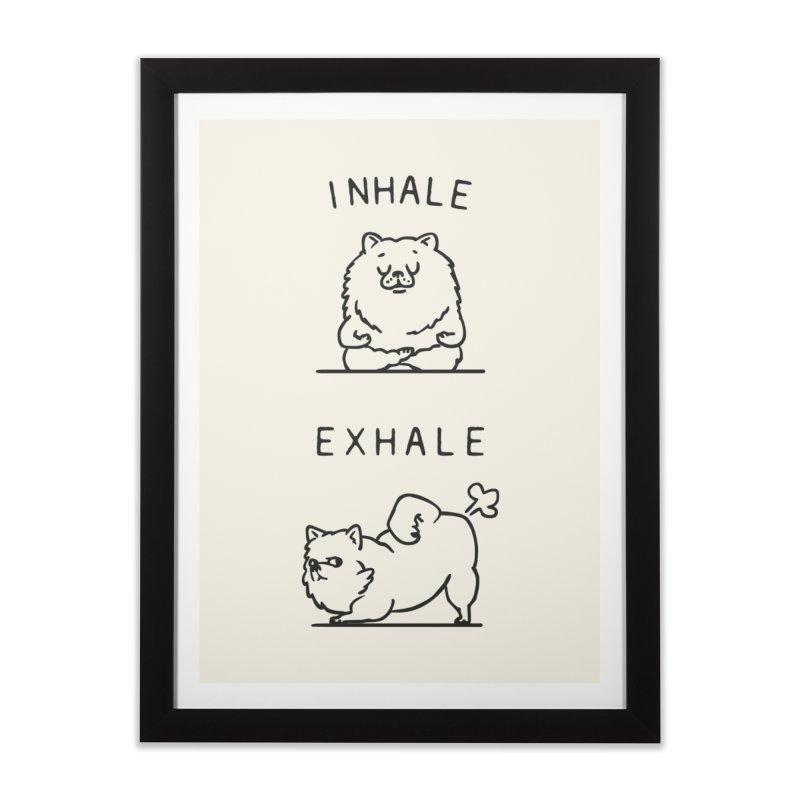 Inhale Exhale Pomeranian Home Framed Fine Art Print by huebucket's Artist Shop