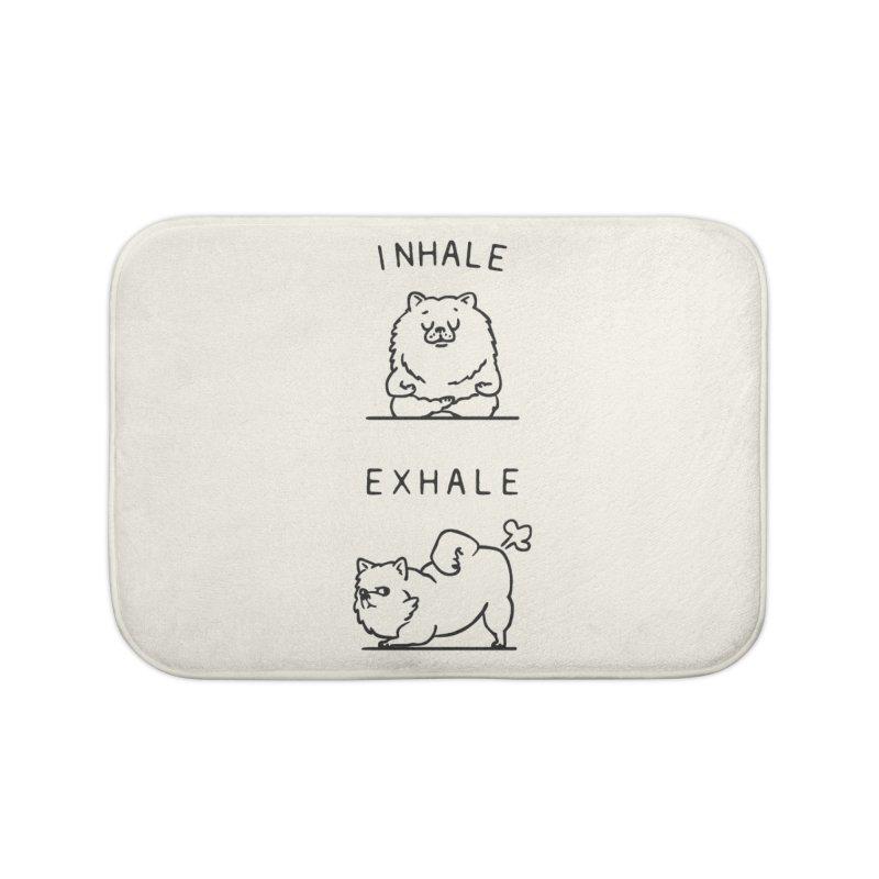 Inhale Exhale Pomeranian Home Bath Mat by huebucket's Artist Shop