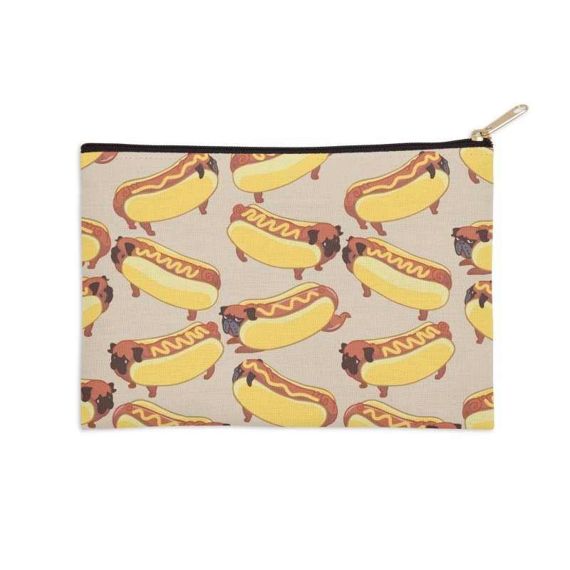 PUGS HOTDOG Accessories Zip Pouch by huebucket's Artist Shop