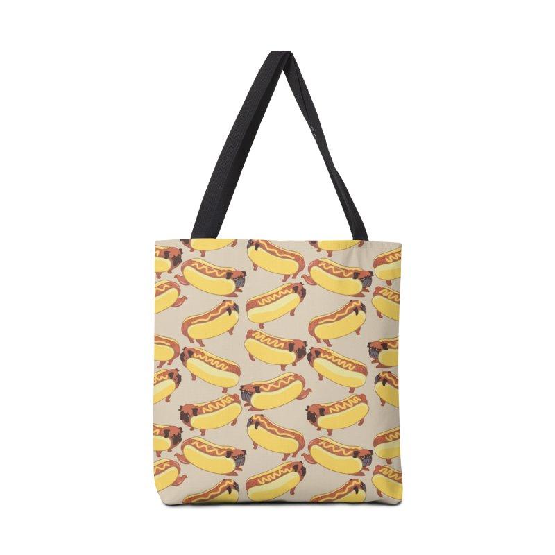 PUGS HOTDOG Accessories Bag by huebucket's Artist Shop