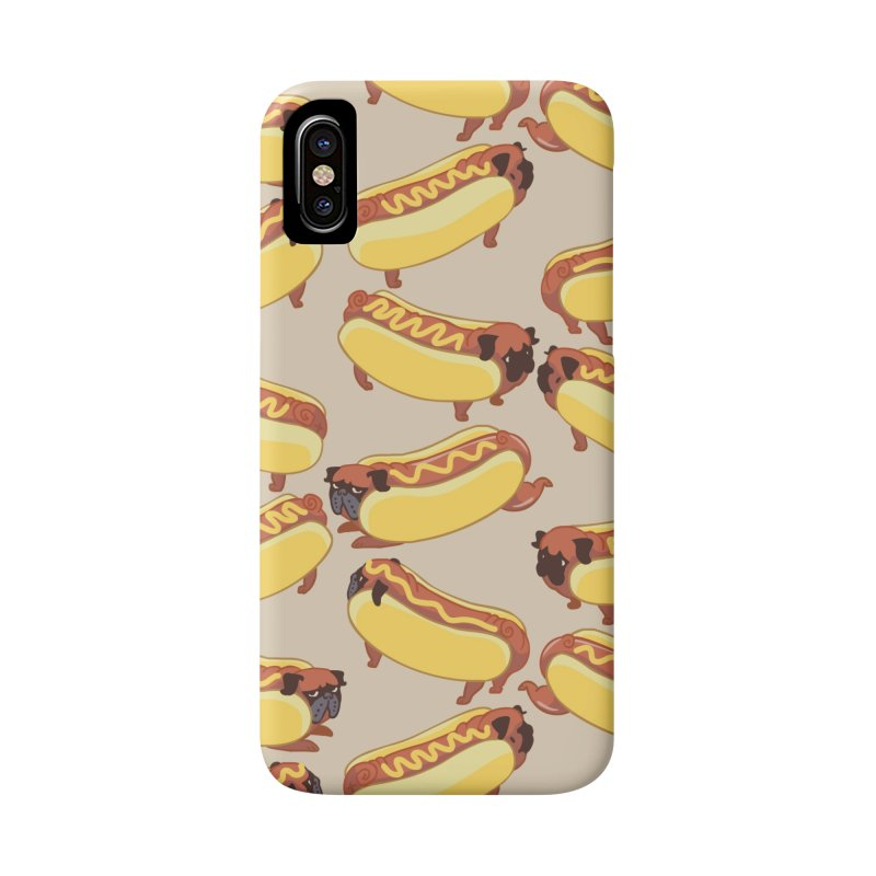 PUGS HOTDOG Accessories Phone Case by huebucket's Artist Shop