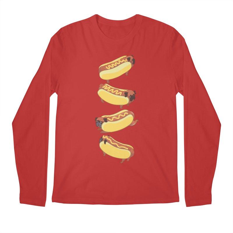 PUGS HOTDOG Men's Longsleeve T-Shirt by huebucket's Artist Shop