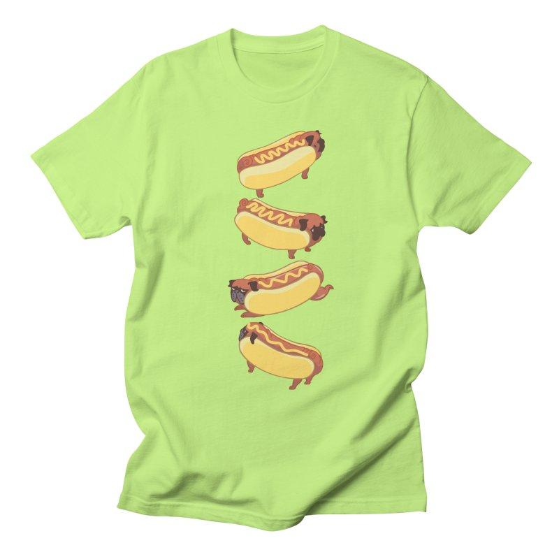 PUGS HOTDOG Men's T-shirt by huebucket's Artist Shop