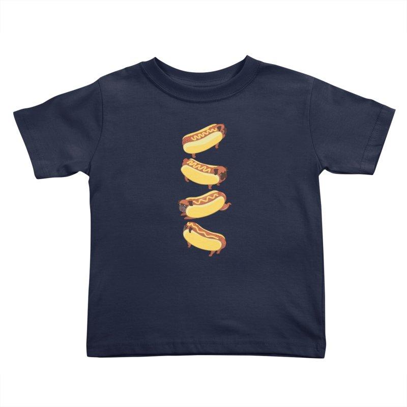 PUGS HOTDOG Kids Toddler T-Shirt by huebucket's Artist Shop
