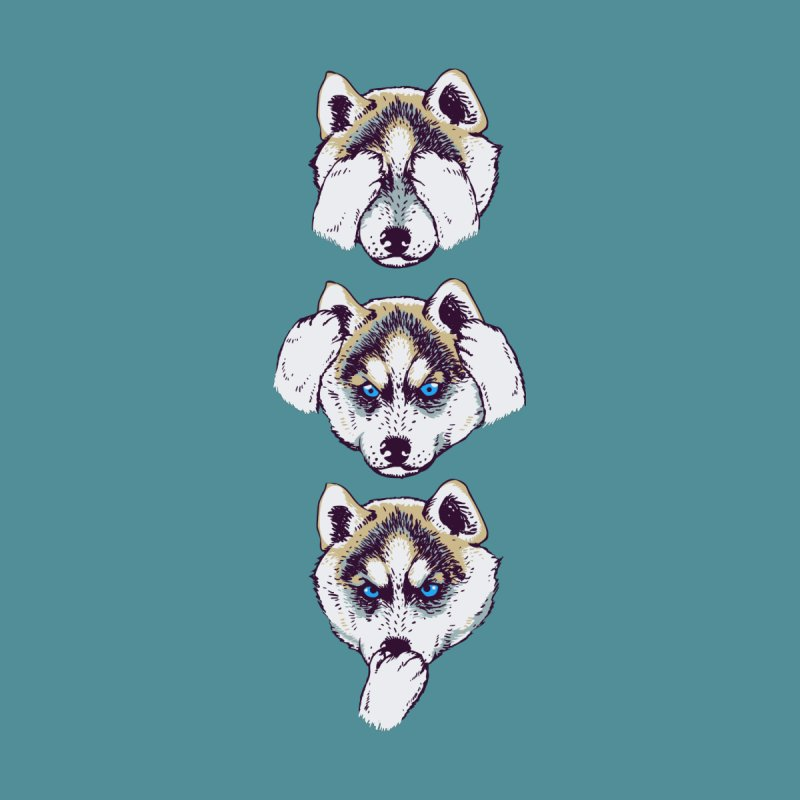 NO EVIL HUSKY by huebucket's Artist Shop