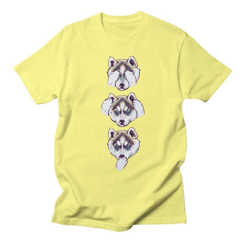NO EVIL HUSKY Women's Unisex T-Shirt by huebucket's Artist Shop