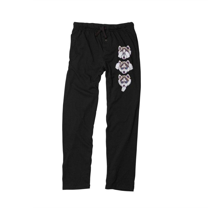NO EVIL HUSKY Women's Lounge Pants by huebucket's Artist Shop