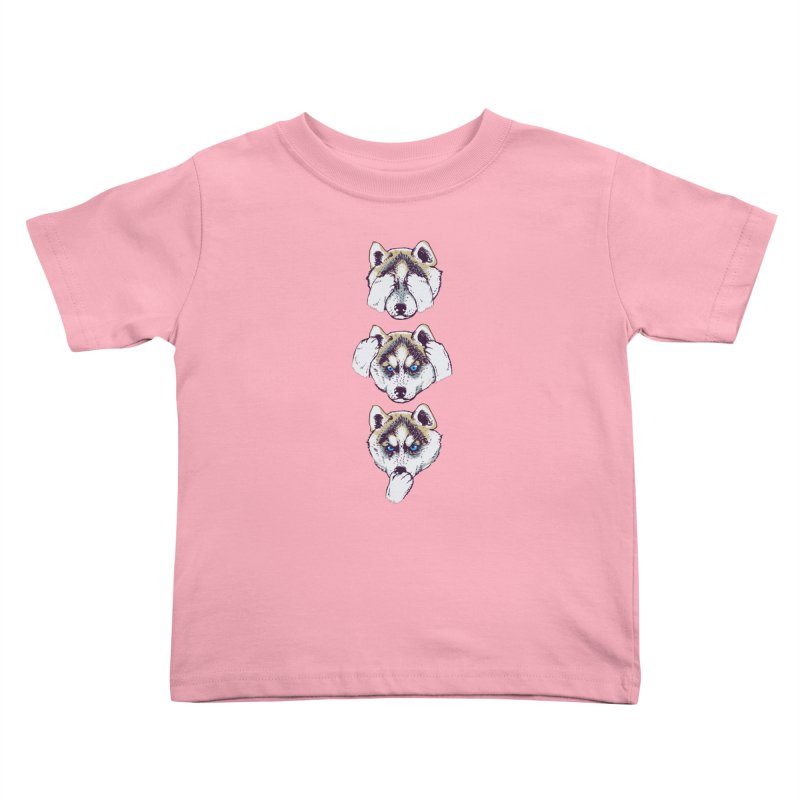 NO EVIL HUSKY Kids Toddler T-Shirt by huebucket's Artist Shop