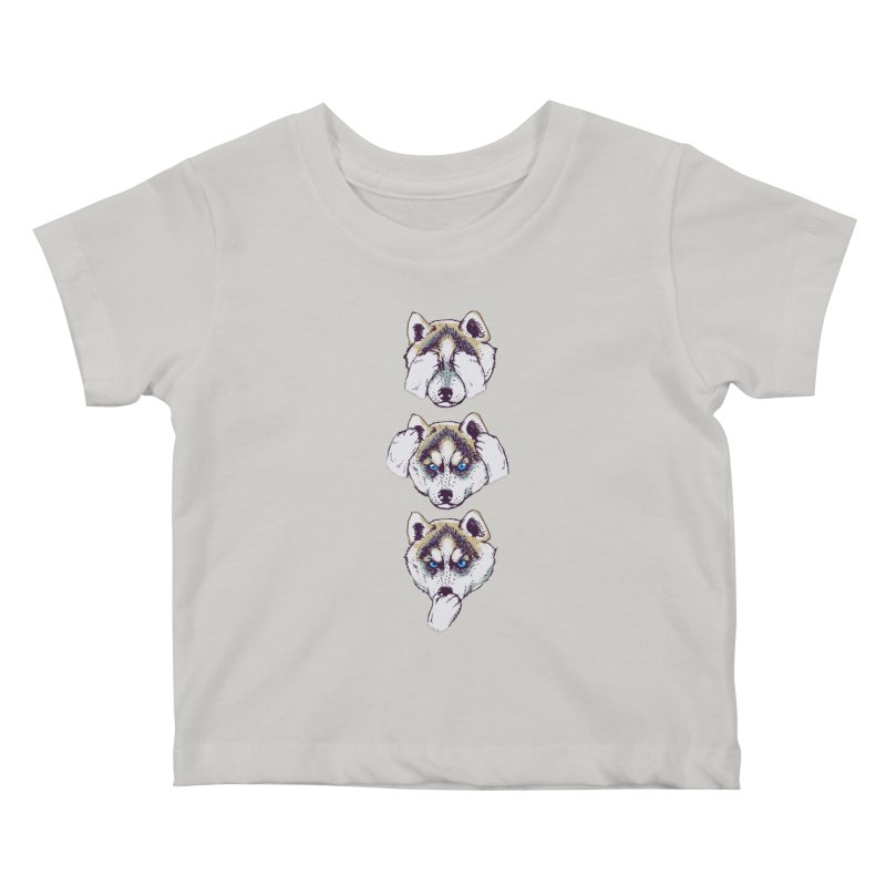 NO EVIL HUSKY Kids Baby T-Shirt by huebucket's Artist Shop