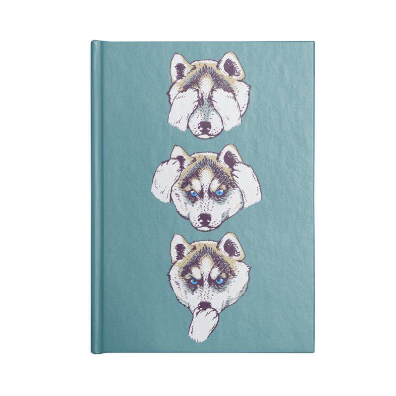 NO EVIL HUSKY Accessories Notebook by huebucket's Artist Shop