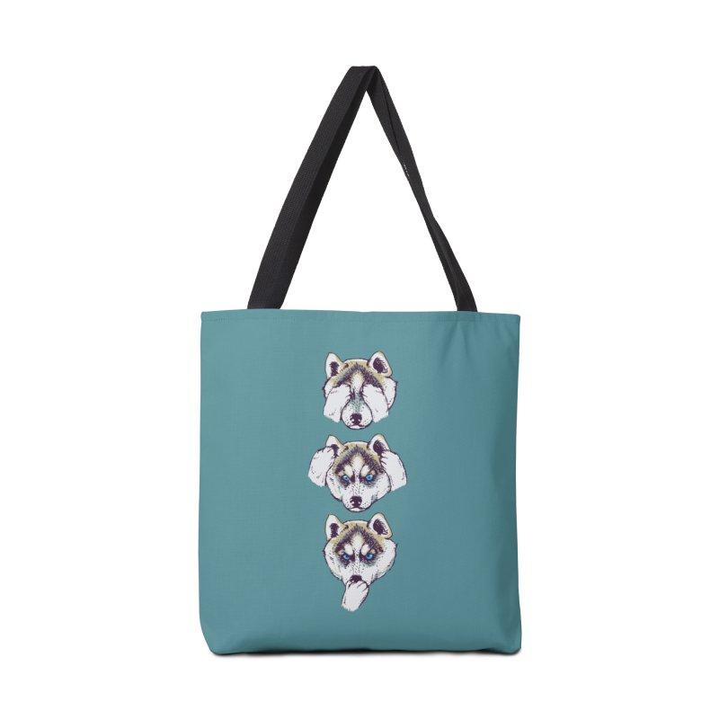 NO EVIL HUSKY Accessories Bag by huebucket's Artist Shop