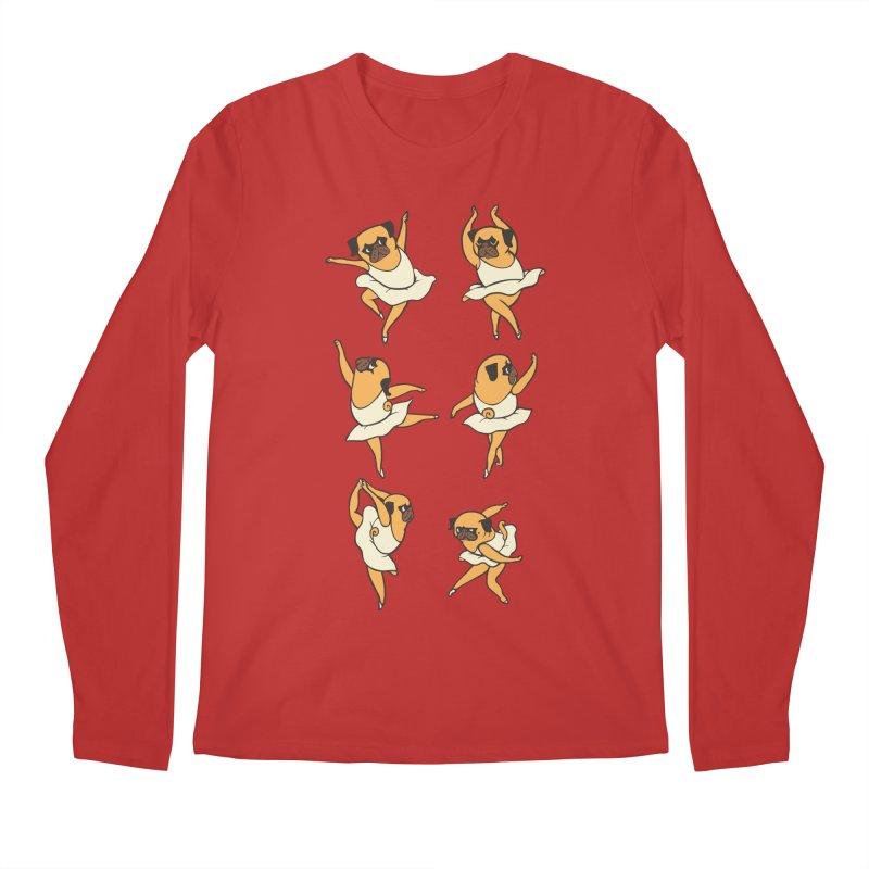 Ballet Pug Men's Longsleeve T-Shirt by huebucket's Artist Shop