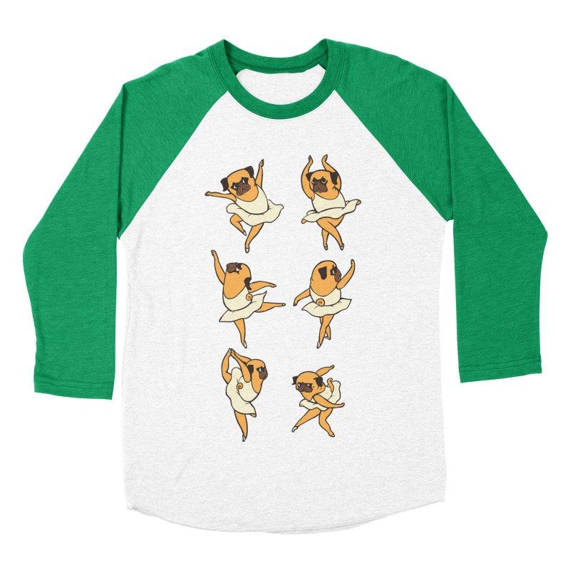 Ballet Pug Women's Baseball Triblend T-Shirt by huebucket's Artist Shop
