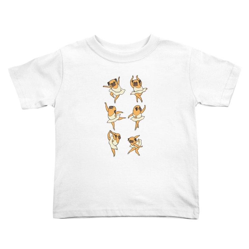 Ballet Pug Kids Toddler T-Shirt by huebucket's Artist Shop