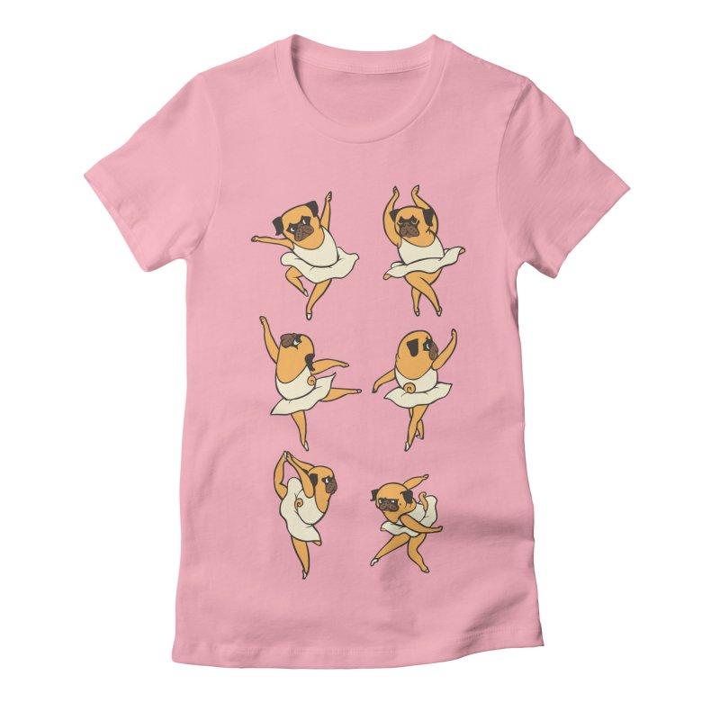 Ballet Pug Women's Fitted T-Shirt by huebucket's Artist Shop