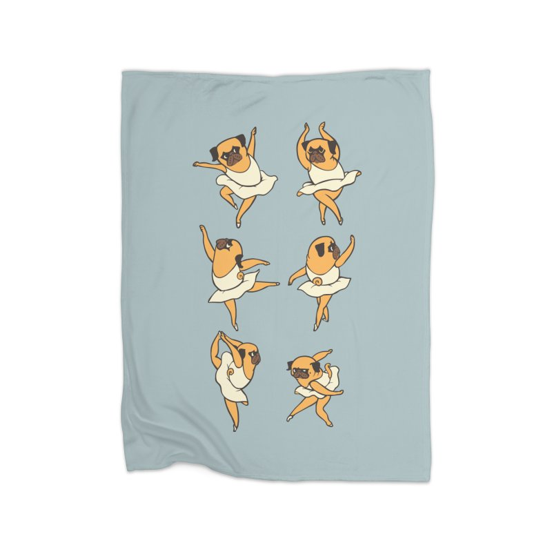 Ballet Pug Home Blanket by huebucket's Artist Shop
