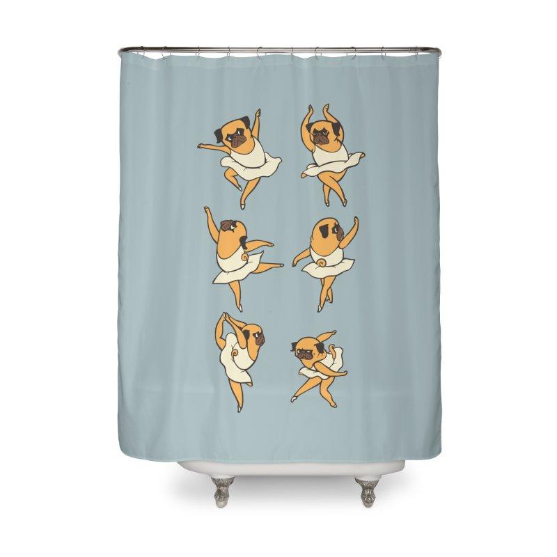 Ballet Pug Home Shower Curtain by huebucket's Artist Shop