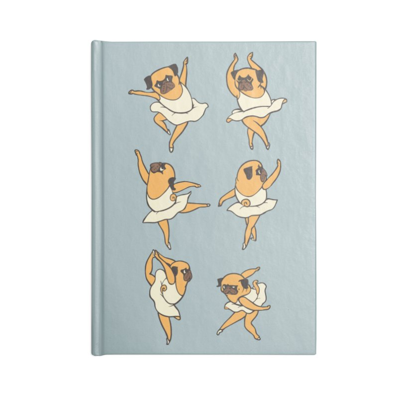 Ballet Pug Accessories Notebook by huebucket's Artist Shop