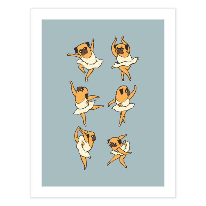 Ballet Pug Home Fine Art Print by huebucket's Artist Shop