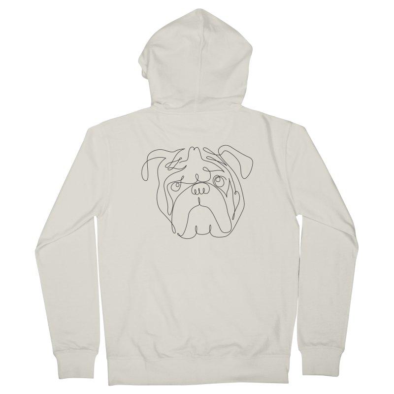 One Line English Bulldog Women's Zip-Up Hoody by huebucket's Artist Shop