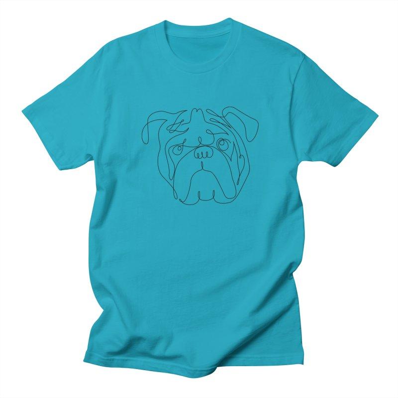One Line English Bulldog Women's Unisex T-Shirt by huebucket's Artist Shop