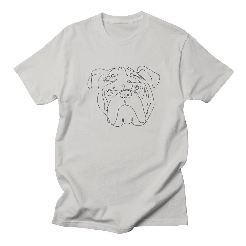 One Line English Bulldog Men's T-shirt by huebucket's Artist Shop